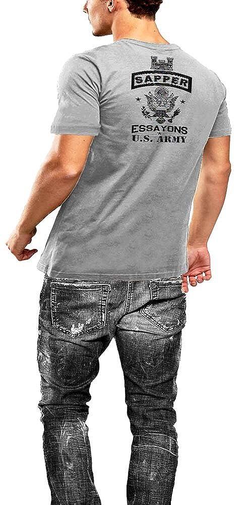 Warface Apparel Army Combat Engineer Sapper US Flag Grey T-Shirt 2 Sided Print