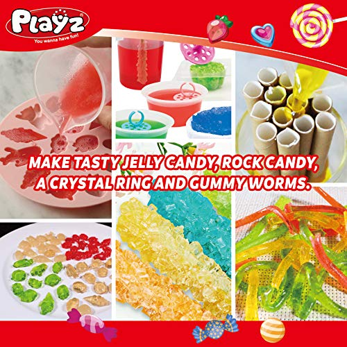 Playz Edible Candy! Food Science STEM Chemistry Kit – 40+ DIY Make Your Own Chocolates and Candy Experiments for Boy…