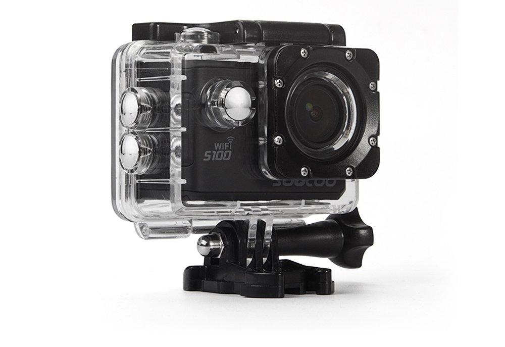 MDTEK @ 16GB TFカード+ SOOCOO S100アクションカメラ4K WiFiスポーツDVフルHDジャイロ30m防水ダイビングミニビデオカメラ2.0インチスポーツカムNTK96660(GPSモデルは含まれません)(ブラック) B07CRQDLQ8