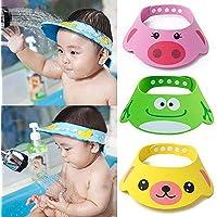 BESTEU Ajustable Suave niños niños bebé champú baño Ducha Gorro Sombrero  Lavar el Pelo Impermeable Escudo 5cd16ae90a3