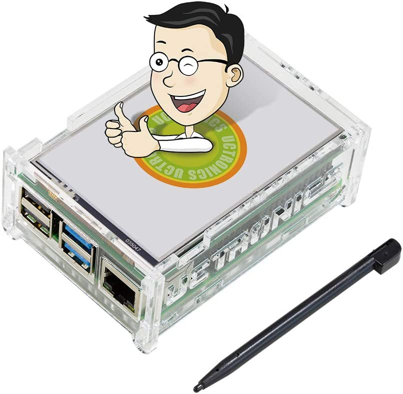 UCTRONICS for Raspberry Pi 4 Touchscreen with Case 3.5 Inch TFT LCD Portable Display with Stylus