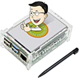 UCTRONICS for Raspberry Pi 4 Touchscreen with Case, 3.5 Inch High Speed TFT LCD Portable Display with Stylus