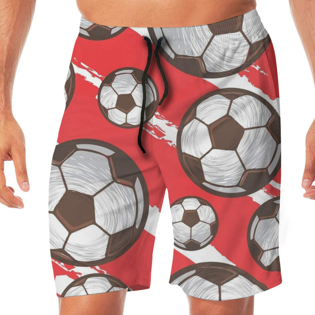 Woxianghe Mens Active Athletic Performance Shorts with Pockets Soccer