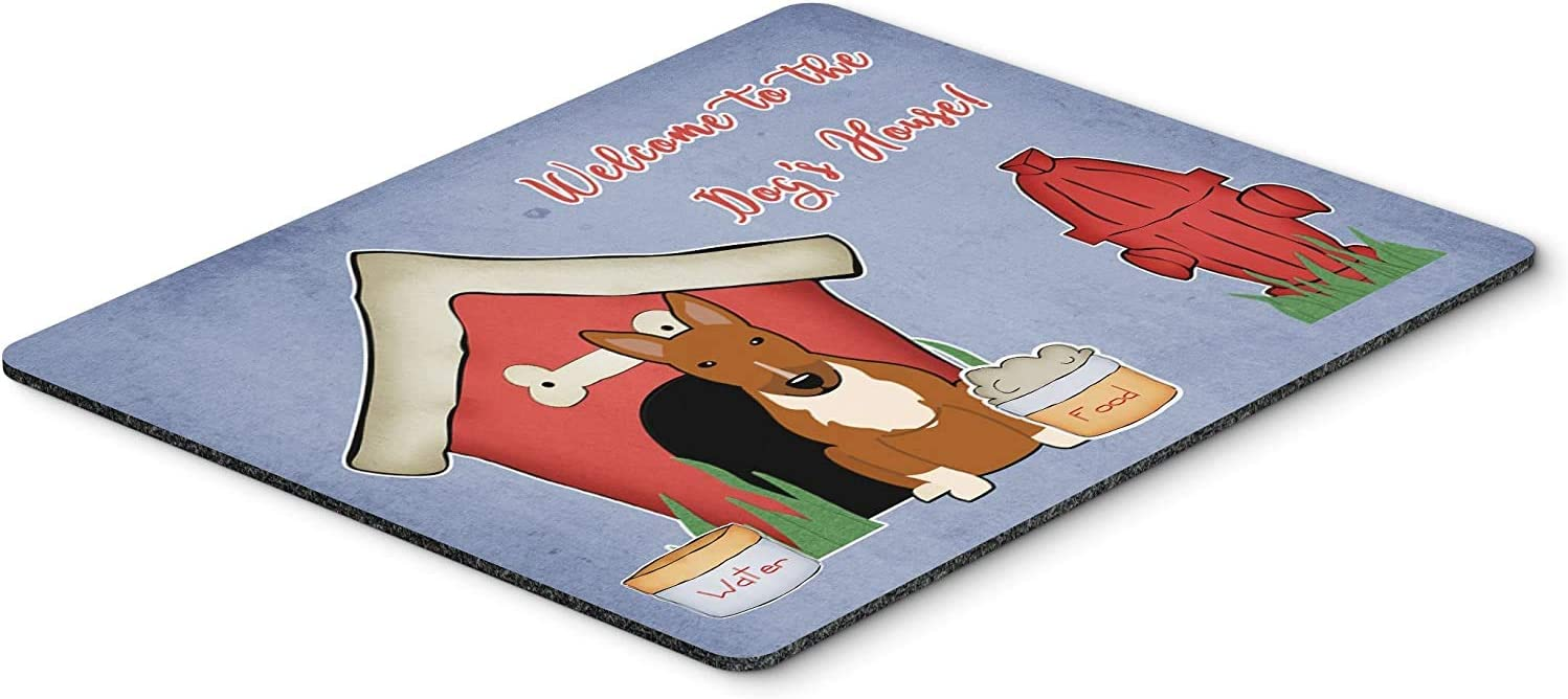 Caroline's Treasures BB2888MP Dog House Collection Bull Terrier Red Mouse Pad, Hot Pad or Trivet, Large, Multicolor [並行輸入品]