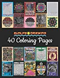 Sunlife Drawing 40 Coloring Pages: The Best Collection from Color By Number, One Color and Adult Coloring Books