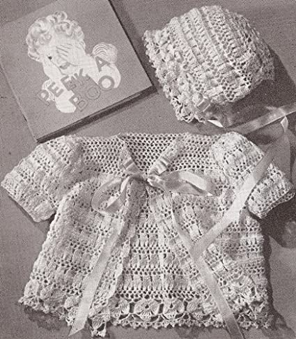 Amazon.com: Vintage Crochet PATTERN to make - Thread Crochet Baby ...
