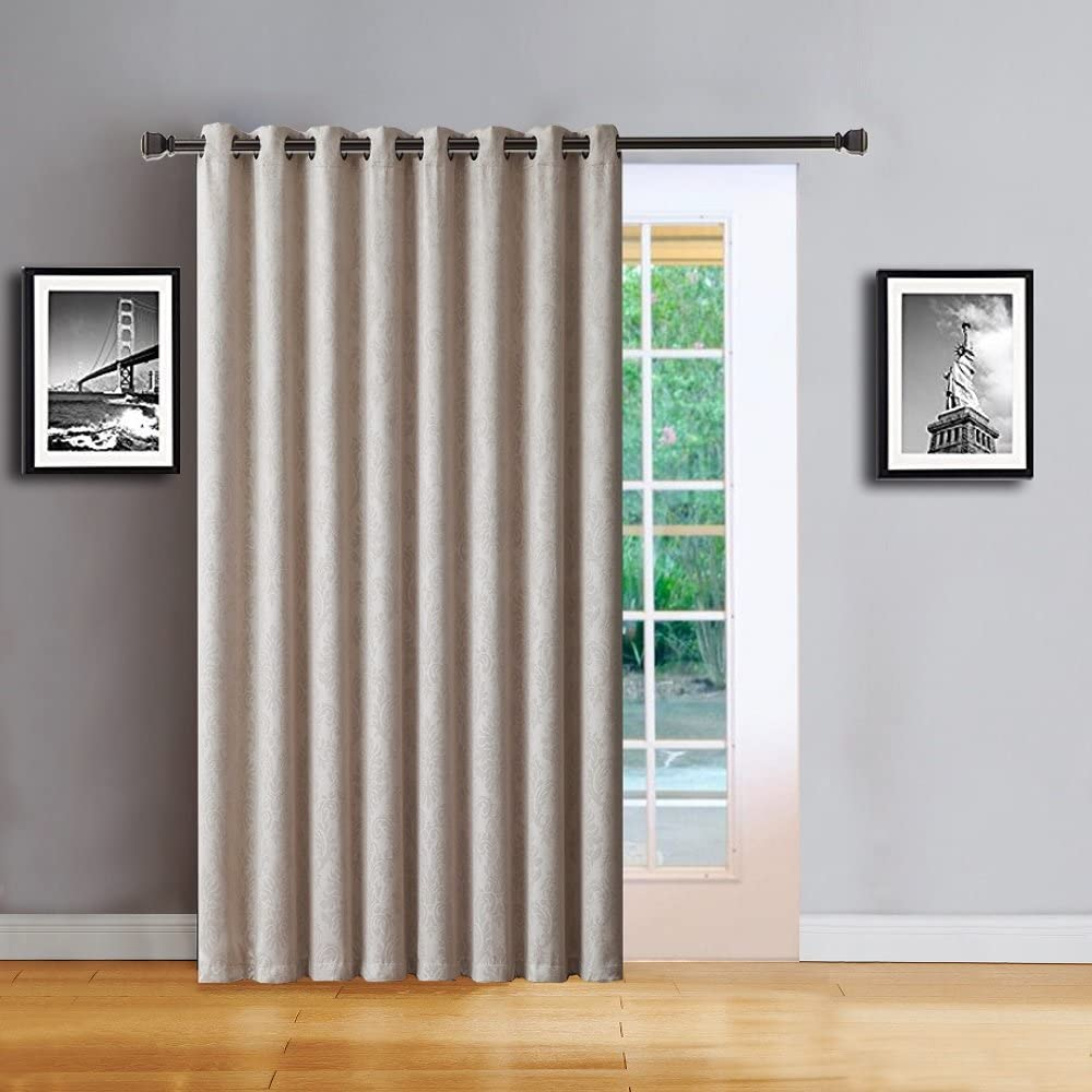Amazon Com Warm Home Designs 1 Extra Large Extra Long 102 X 96 Panel Of Textured Ivory Patio Door Curtains Insulated Blackout Sliding Door Or Room Divider Drape With Embossed Pattern Ev Ivory Patio 96