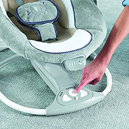 Ingenuity, Townsend 2 in 1 Babyschaukel und -sitz, zusammenklappbar, mit Vibrationen, 5 Schaukelgeschwindigkeiten, mehr als 8 Melodien und Lautstärkeregler 5