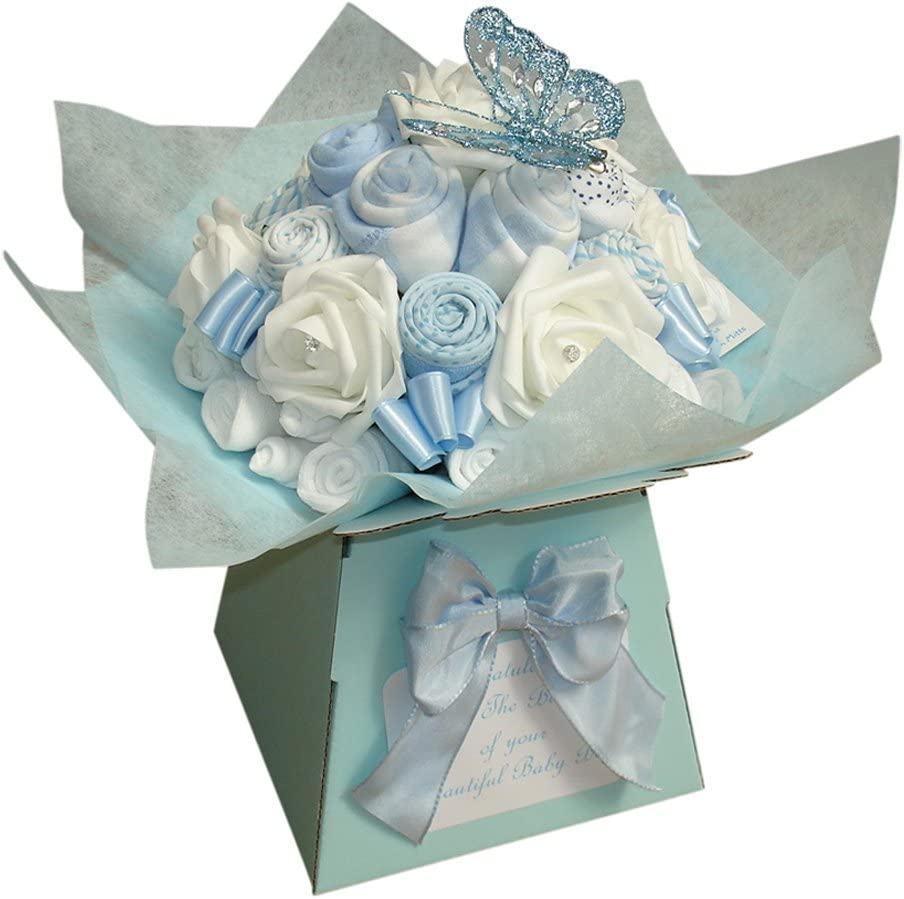 bouquet de v/êtement pour b/éb/é gar/çon Cadeau de naissance personnalis/é