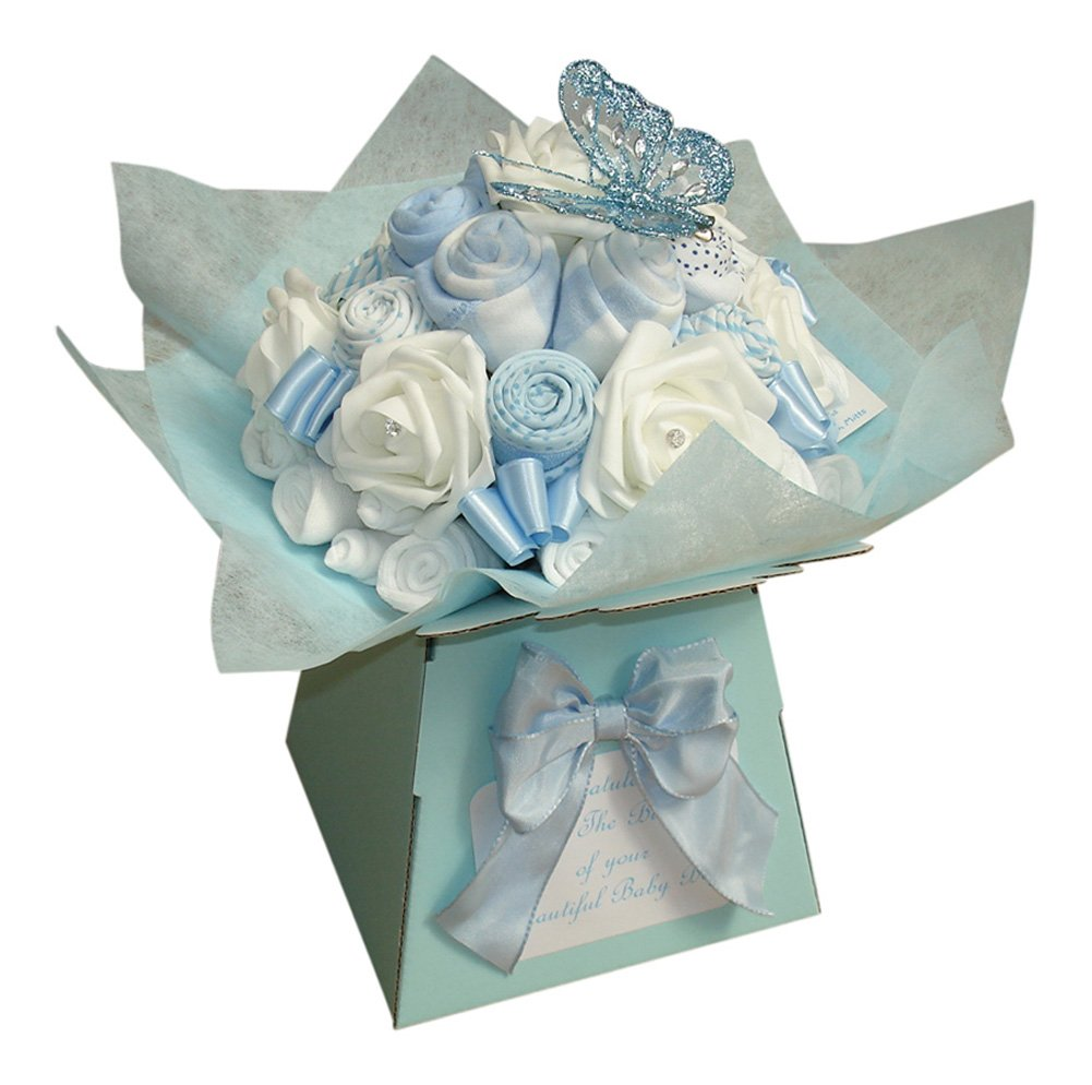 Baby Boy Clothing Bouquet Baby Shower Gift (6-9 Months) Bizzie Bees