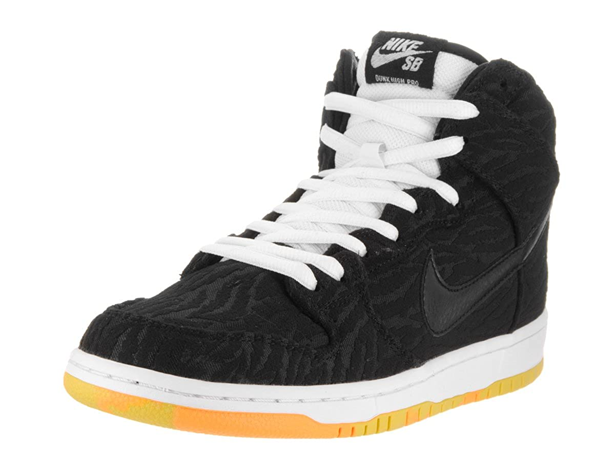 special sales later amazing price NIKE Men's Dunk High Pro SB Black, White and Laser Orange Skate Shoe