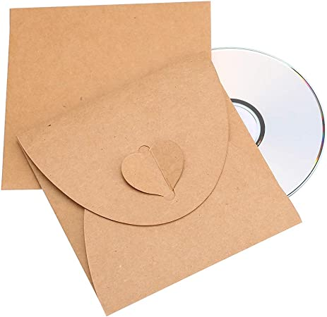 Siumir CD DVD Sobres de Cartón Bolsas de Papel Kraft Case Poseedor 13 x 13 cm / 1.5 x 1.5 inch, 30 pcs: Amazon.es: Electrónica