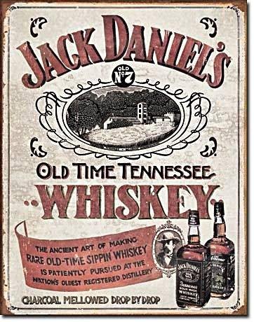 JACK DANIELS Metal Sign WHISKEY Pub Bar Vintage Tin Sign Retro Metal ...
