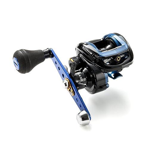 ダイワのバスXは、オールラウンドに使用できるベイトリール。「アルミ製φ32mmブランキングスプール」を採用することで、回転性能をアップさせた。  価格は手頃だが、基本機能はすべて兼ね備えているため、これから釣りを始めたい方にもおすすめ。