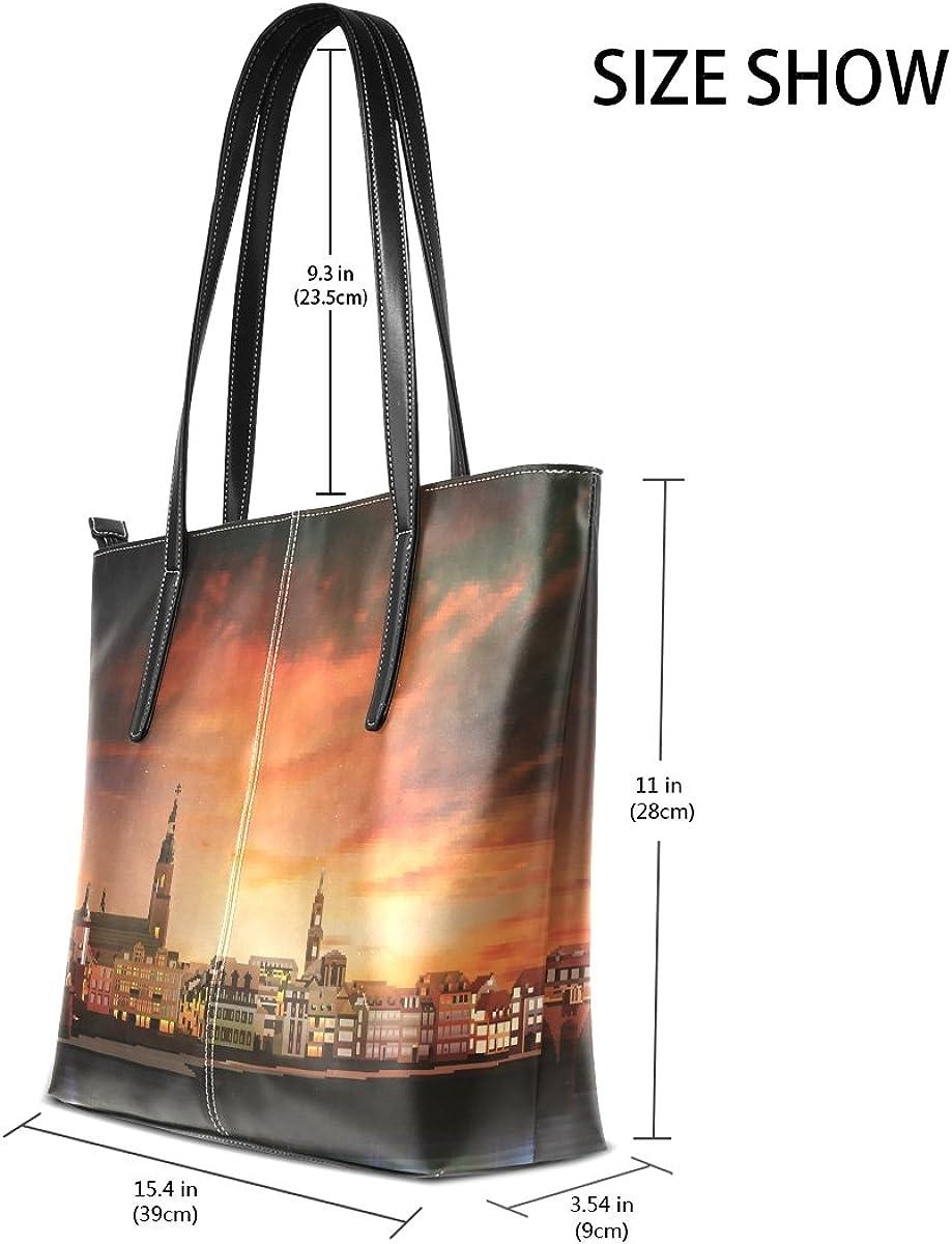 Coconut Tree Beach Leather Handbags Purses Shoulder Tote Bags Satchel Womens