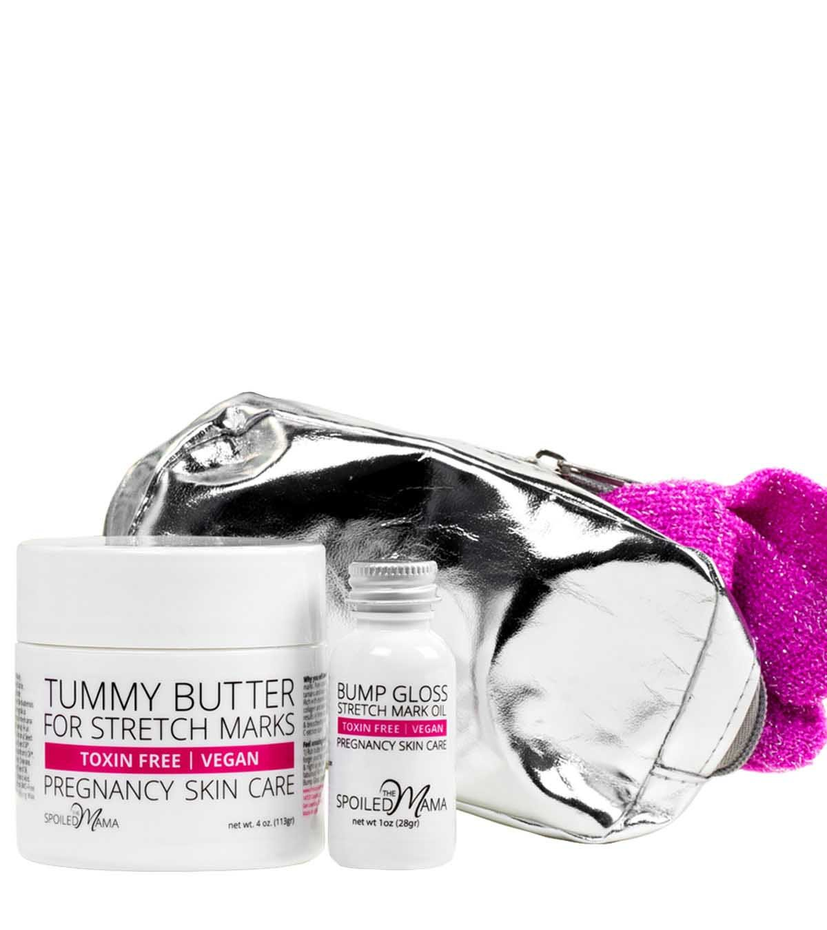 Bump Bag Bliss ~ Pregnancy Gift Set for Stretch Marks by The Spoiled Mama