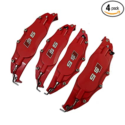 Amazon com: Leadchange 4x Customize Caliper Cover Red Color Kit For