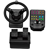Logitech G Saitek Farm Sim Controller, PC/Mac/PS4 + landbouwsimulator 19 Farming simulator bundel zwart