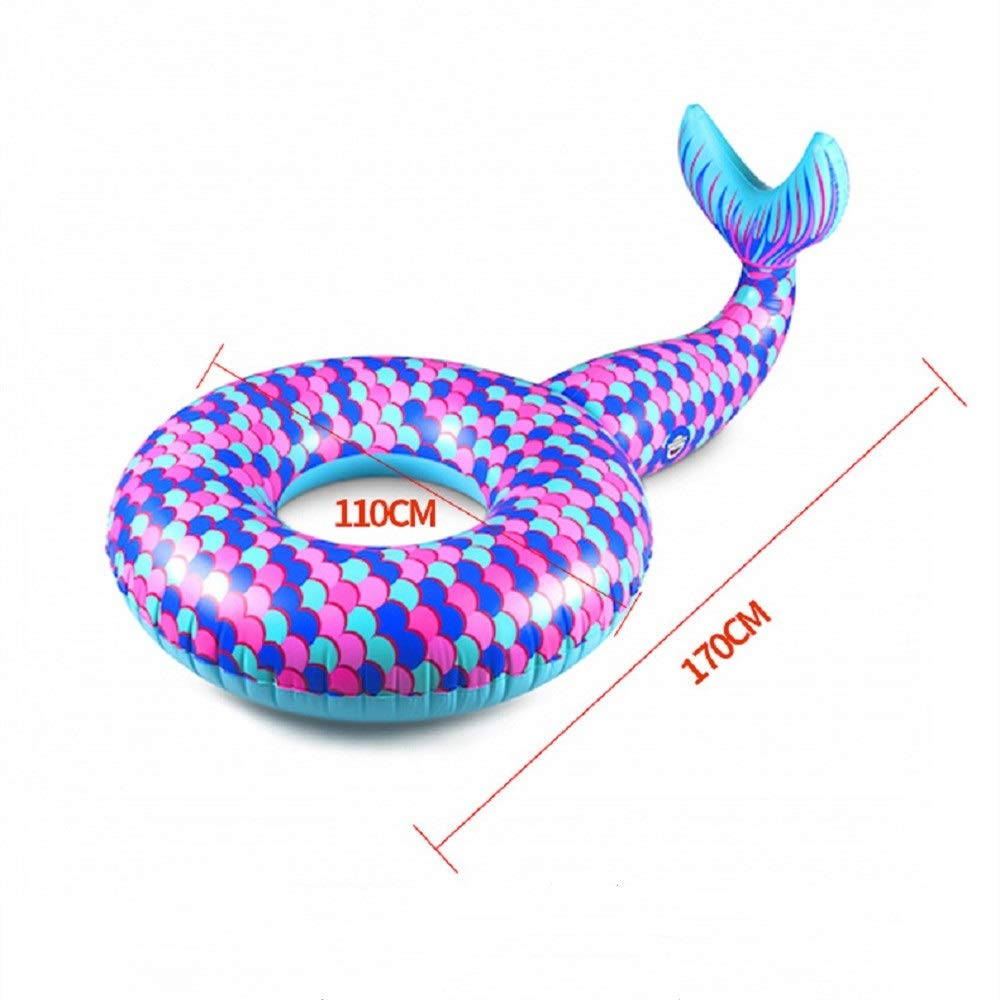 Giant Inflatable Mermaid Swim Circle, Pool Float for Party, Happy Time in Summer (Color : Purple) by Cass (Image #5)