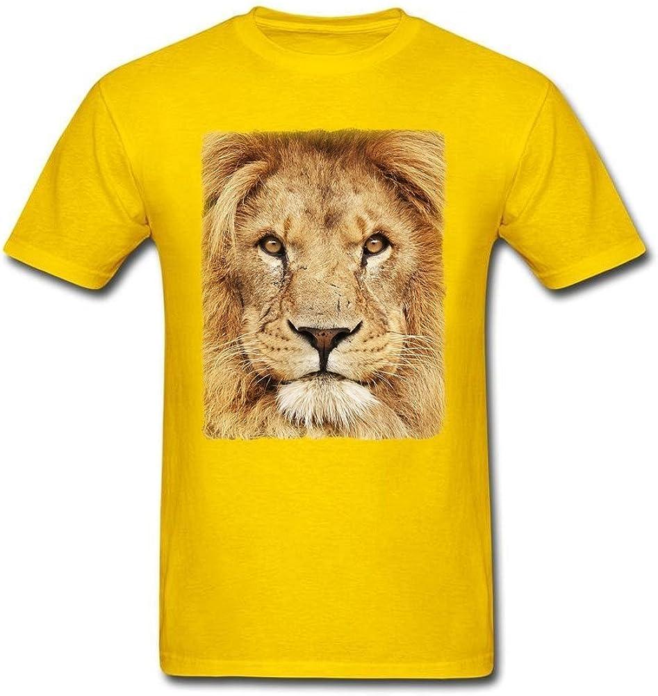Los hombres de Big de León cara Animal Print algodón camisas: Amazon.es: Ropa y accesorios
