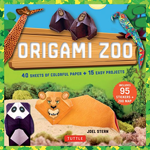 Origami Zoo Kit: Make a Complete Zoo of Origami Animals!: Kit with Origami Book, 15 Projects, 40 Origami Papers, 95 Stickers & Fold-Out Zoo (Paper Zoo)