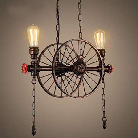 Retro lámpara colgante de techo Vintage Plafón Agua Tubo ...