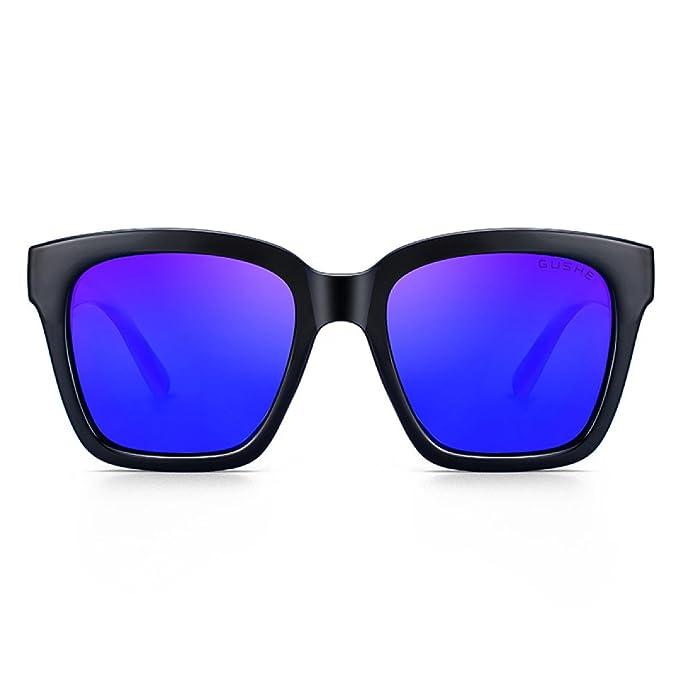 bc710347fd Gafas De Sol Polarizadas Para Mujer Lente Del Color De La Mujer Gafas  Wayfarer Moda UV Bloqueo Sin Reflejos Lentes, Blue-OneSize: Amazon.es: Ropa  y ...