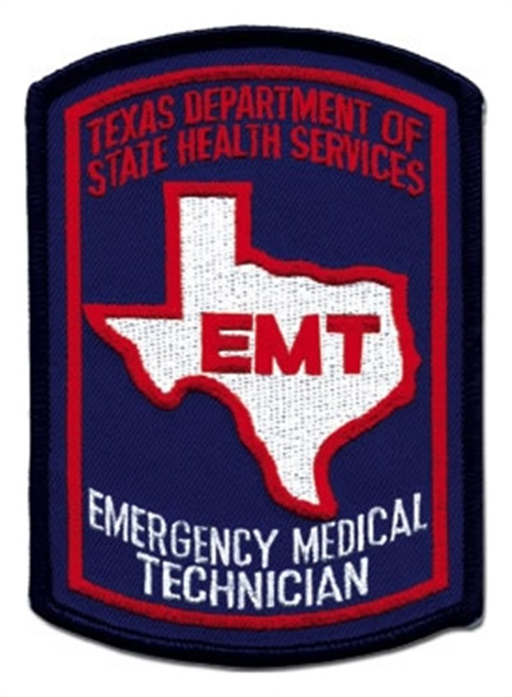 Texas EMT Patch - Color - 10 Pack by SafetyStore