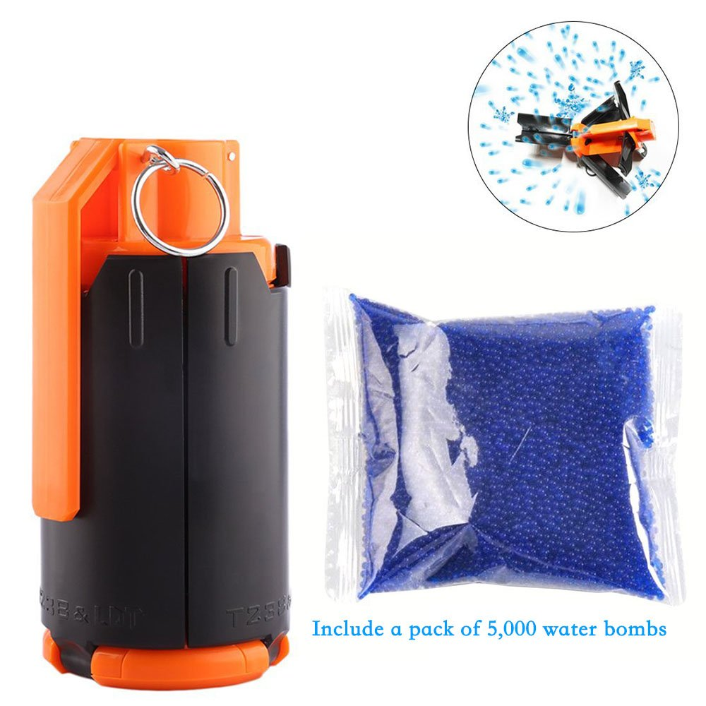 Toy Grenade Include a pack water bomb ,Soft Foam Bullets Refill Darts Tactical Grenade Blaster,Soft Water Bomb Accessories T238 Soft Grenades Water Bomb Mine Model Childrens Toys and Childrens best gift Any Beauty AB-0283-0064