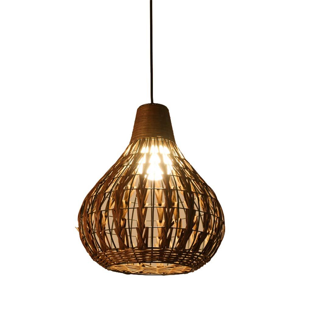 Southeast Asian Style Lantern Lighting Creative Personality Restaurant Light, Vintage Bamboo Rattan Lamp Chandelier Bird Chandelier