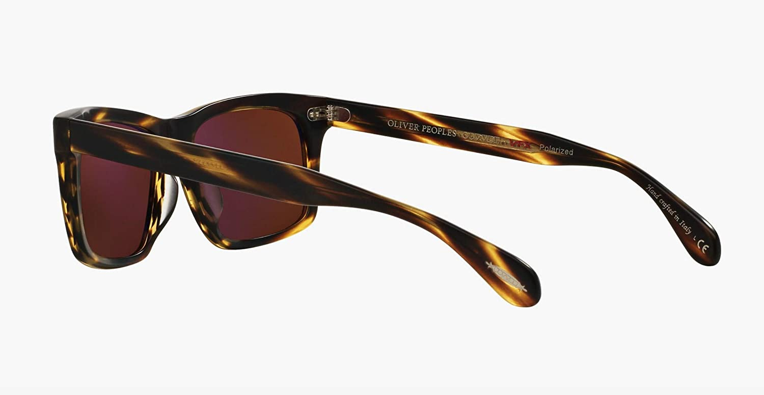 c2b5289468c Amazon.com  Oliver Peoples Unisex Brodsky Semi Matte Cocobolo Java  Polarized  Clothing