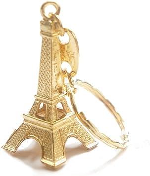 Travel Bag Eiffel Tower Shaped Pendant Key Chain Keyring Craft Gift