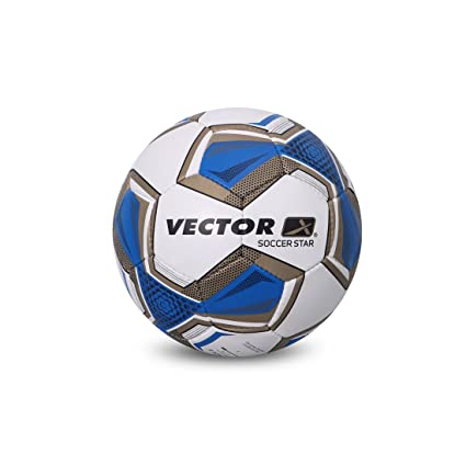 83eb69120c8 Buy Vector X Soccer Star Football (White-Blue) (Size-5) Online at Low Prices  in India - Amazon.in