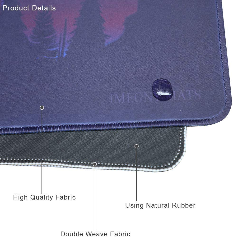Large Gaming Mouse Pad, Imegny Extended XXL Desk Pad & Non-Slip Rubber Keyboard Mat Stitched Edges-(gaota007) [並行輸入品]