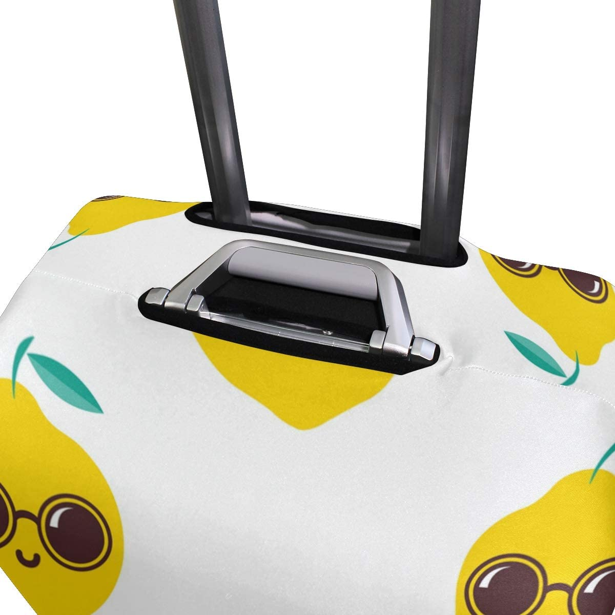 Travel Luggage Cover Cool Lemon With Sunglasses Suitcase Protector