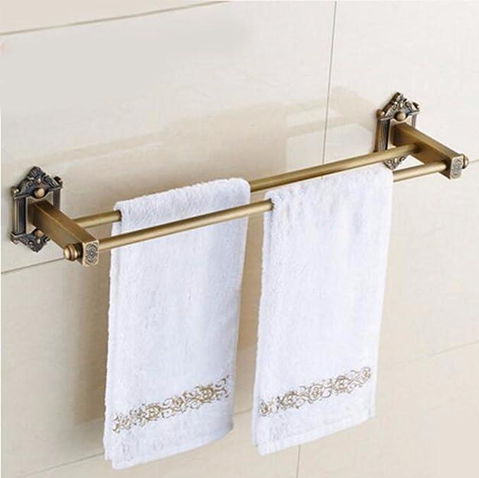Sursy Todo el cobre, antigüedades europeas, el doble Pole toallero, China antigua tallada toalla, polo, metal puro,un colgante: Amazon.es: Hogar