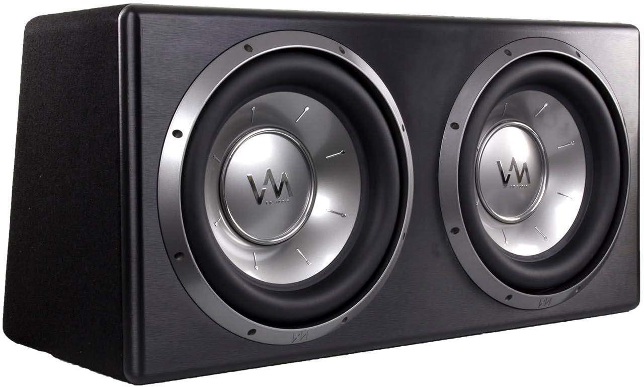 "VM Audio Dual 12"" 4800 Watt Complete Car Stereo Subwoofer Bass Package"