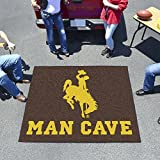 "NCAA University of Wyoming Man Cave Tailgater Rug, 60"" x 72""/Small, Black"