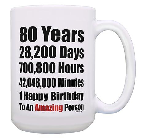 Amazon.com: 80 cumpleaños regalo 80 años 1 feliz cumpleaños ...