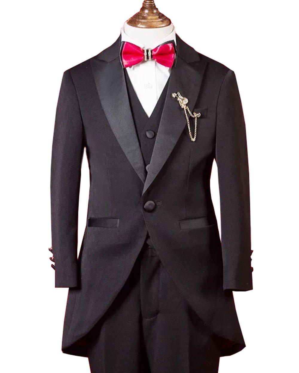 Marfoli Boy's daliy Causal 5 Pieces Blazers Suit Set