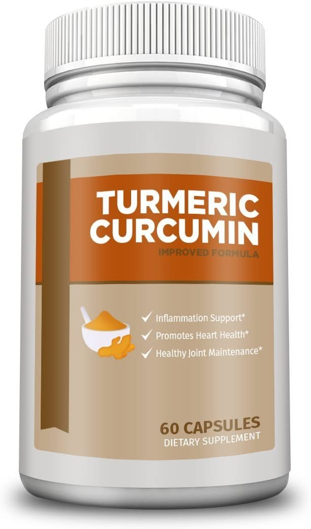 GS Supplements – Turmeric Curcumin for Anti-Inflammatory, Pain Relief, Antioxidant Supplement, 600 mg, 60 Capsules
