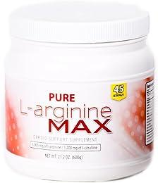 Pure Max Nutrition L-arginine MAX Cardio Support Supplement - 6000mg of L-arginine & 1200mg of L-citrulline, 45 Servings per Bottle (21.2 oz)