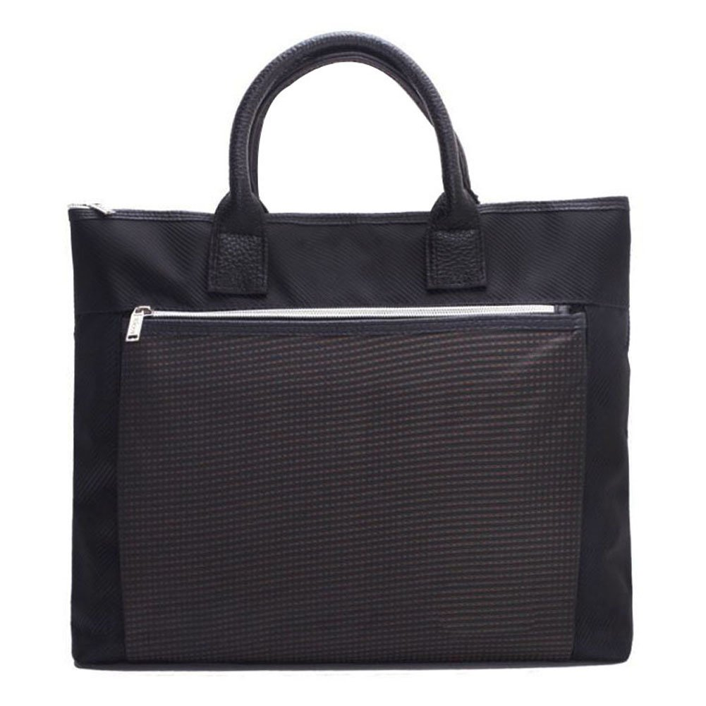 Double Layer Business Document Bag Briefcase Handbag for Bussiness Meeting Office,Black