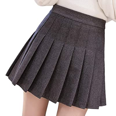 économiser f10c9 3104f LaoZanA Femme Mini Jupe Patineuse Taille Haute Court Jupes ...