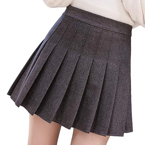 LaoZanA Minifalda De Cintura Alta De Invierno Falda Cortas Cintura ...