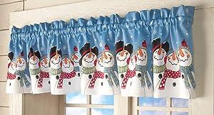 Trenton Gifts Holiday Winter Snowman Window Valance | Frosty & Friends