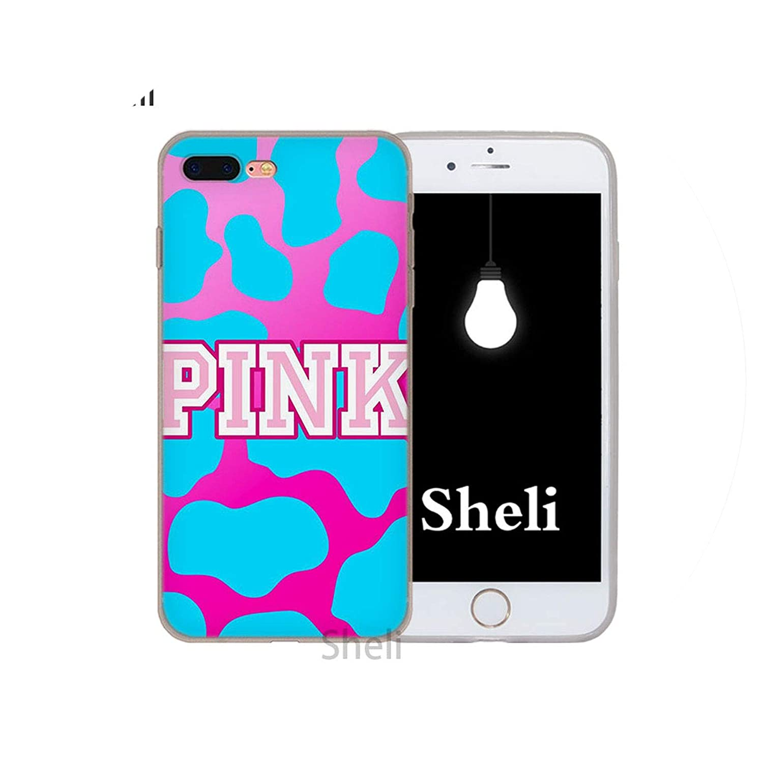 78a04eefd9 Amazon.com: Pink Victoria Secret Background Frosted Softness Transparent case  Cover for iPhone X XS XR MAX SE 5 5s 6 6s 7 8 Plus,013,for iPhone 6s Plus:  ...