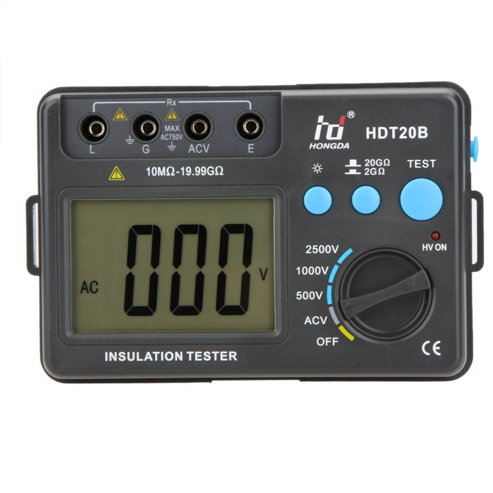 Probador y Medidor de resistencia de aislamiento HDT20B