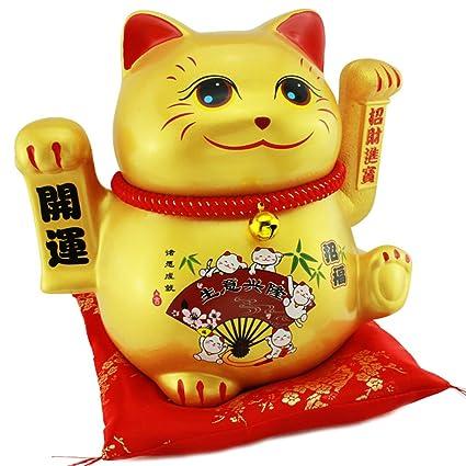 Tamaño grande de cerámica Próspero negocio de gato de la suerte gato ...