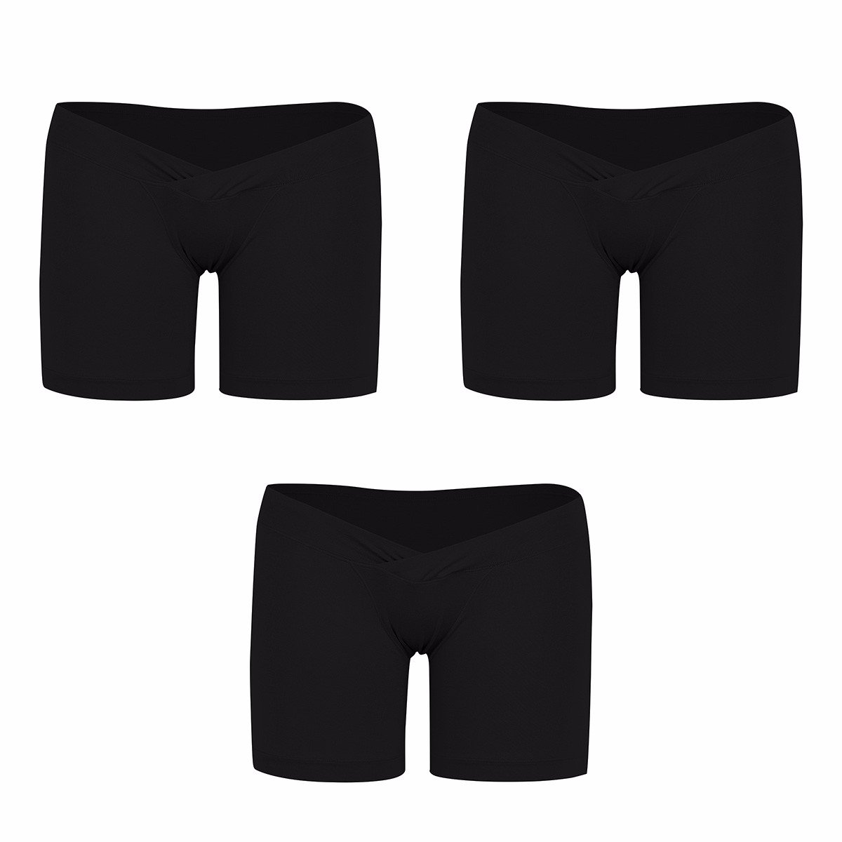 82535ce64ef43 FEESHOW 3 Pack Women s Under The Bump Maternity Panties Pregnancy Underwear  Healthy Boyshort at Amazon Women s Clothing store